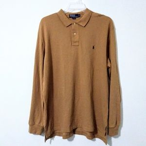 Polo Ralph Lauren Longsleeve Polo Shirt XL Brown